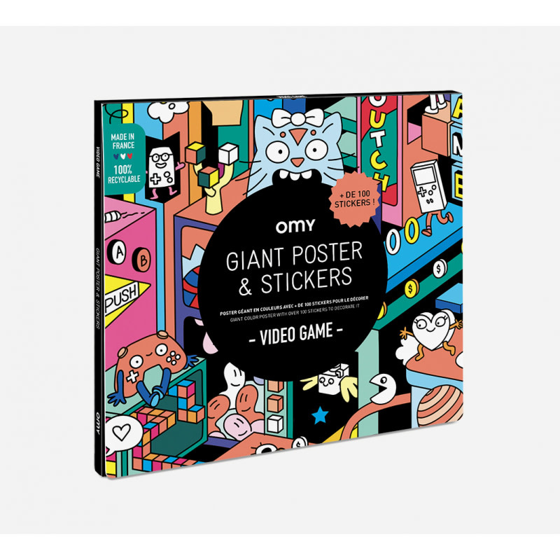 OMY OMY poster 70 x 100 cm  + 150 stickers video games