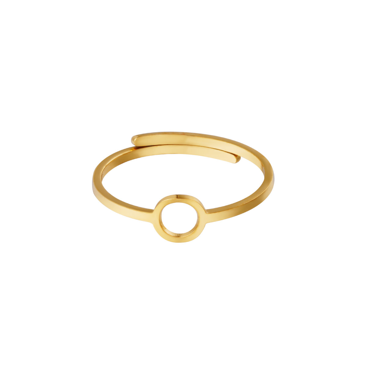 With love Ring open circle gold
