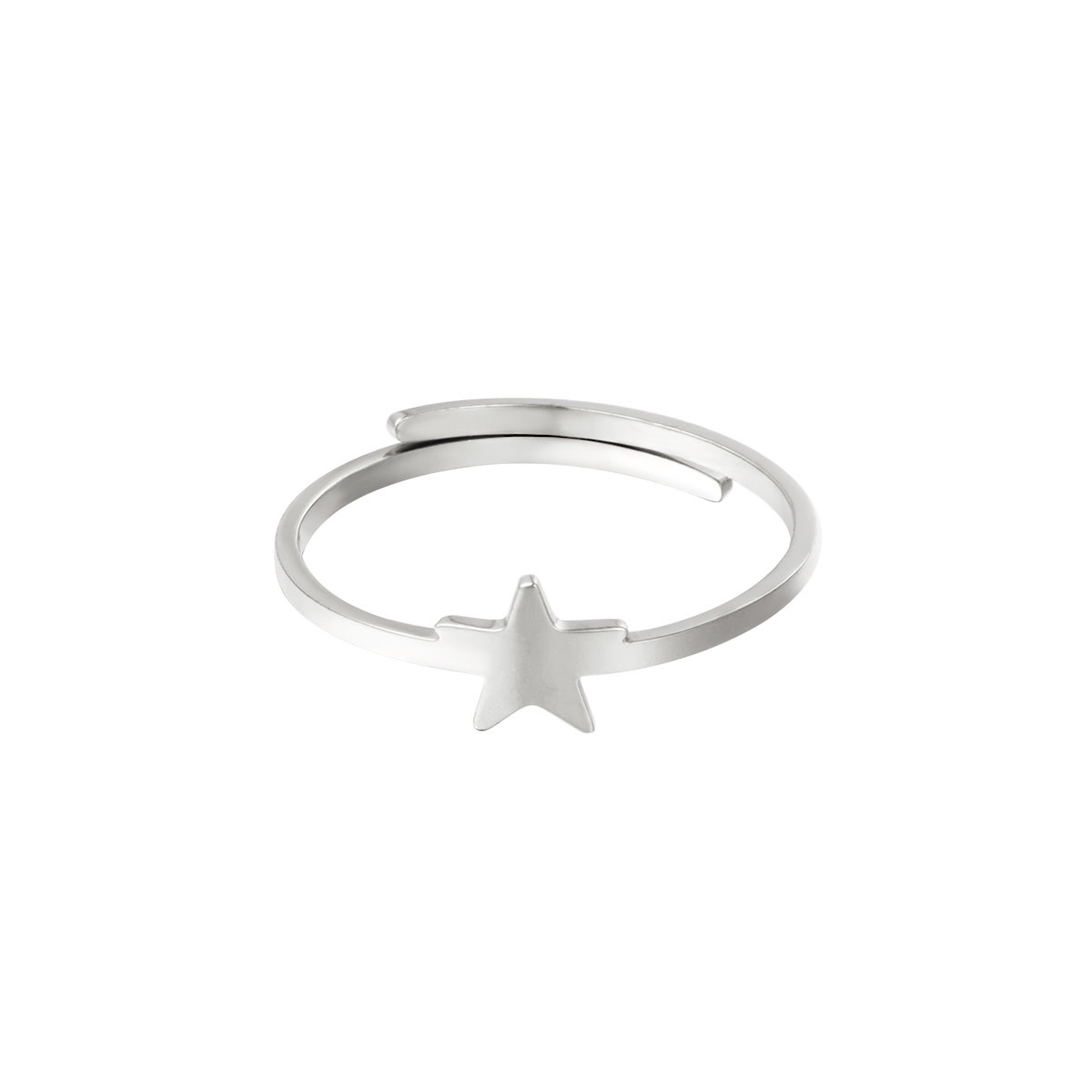 With love Ring star silver