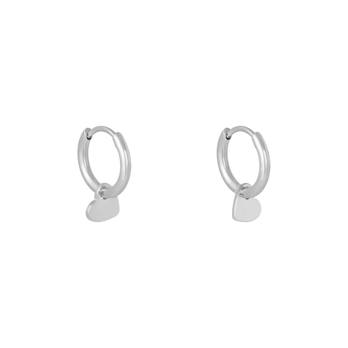 With love Earrings lonely heart club silver