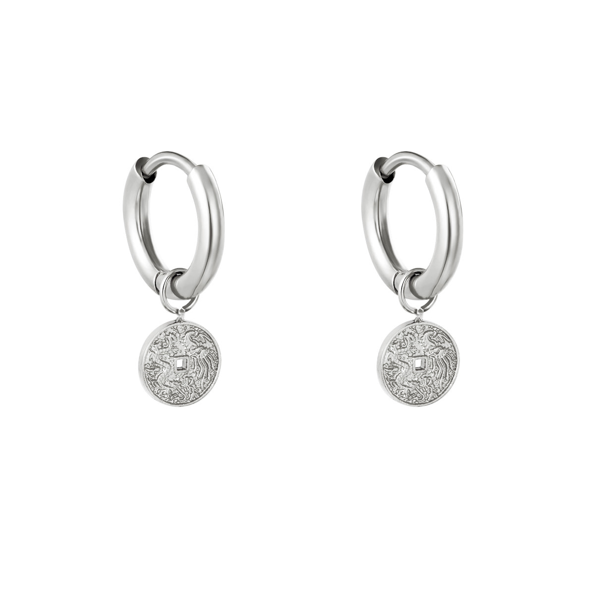 With love Earrings Bristol silver