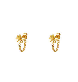 With love Earrings daisy chain gold