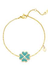 With love Bracelet good luck aqua