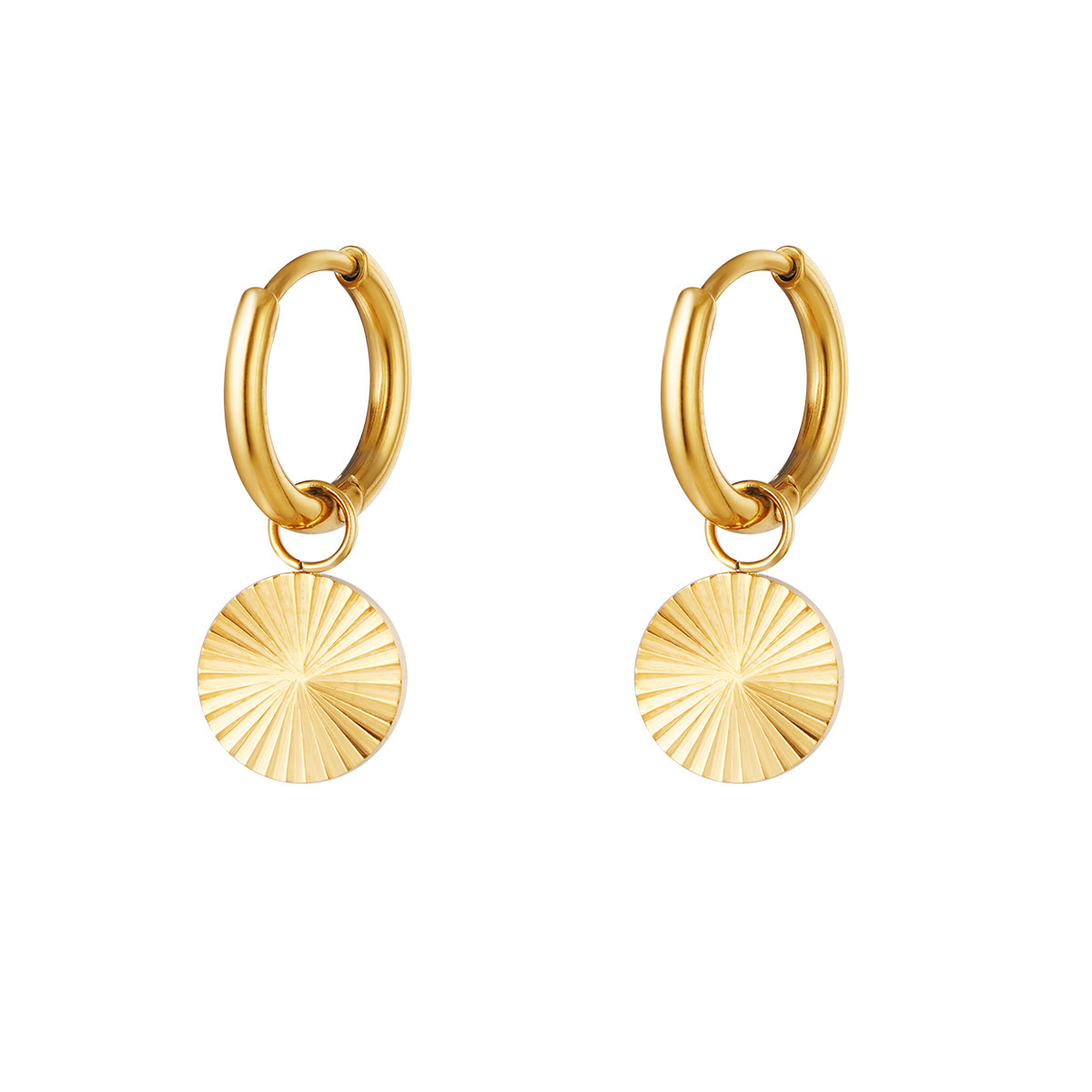 With love Earrings circle gold