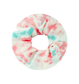 With love Scrunchie tie dye pink - aqua