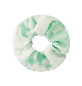 With love Scrunchie tie dye green - white