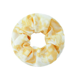 With love Scrunchie tie dye yellow - white