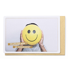 Enfant Terrible Enfant Terrible card  + enveloppe 'communie smiley'