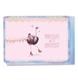 Enfant Terrible Enfant Terrible card  + enveloppe 'lentefeest struisvogel'
