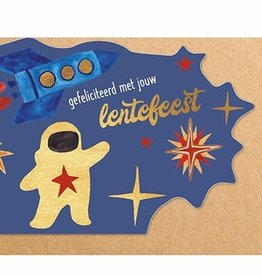 Enfant Terrible Enfant Terrible card  + enveloppe 'lentefeest astronaut'