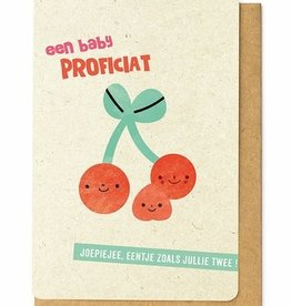 Enfant Terrible Enfant Terrible card  + enveloppe 'een baby proficiat'