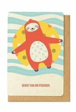 Enfant Terrible Enfant Terrible card  + enveloppe 'geniet van uw pensioen'