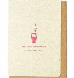 Enfant Terrible Enfant Terrible card  + enveloppe 'tijd voor een drankje'