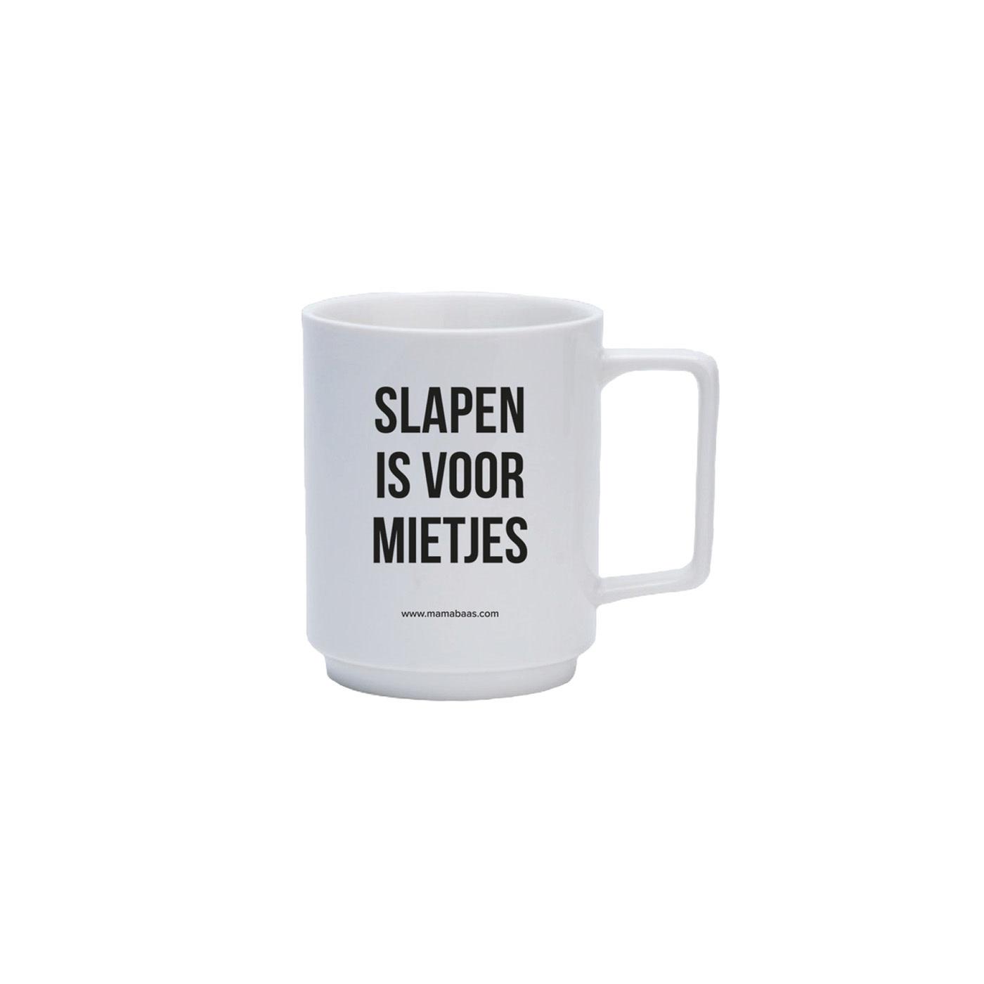 Lannoo Uitgeverij Coffee mug - Slapen is voor mietjes