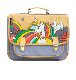 Caramel & cie Medium schoolbag pop unicorn 38 x 31x12 cm