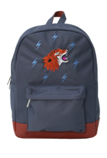 Caramel & cie Medium backpack GRRRR blue