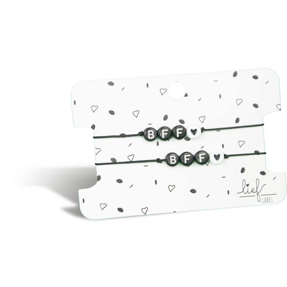 Lief Label Bracelet set BFF - black
