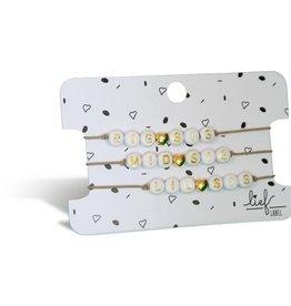 Lief Label Bracelet set Big, mid & little sis - beige