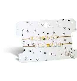 Lief Label Bracelet set Big & little sis - beige