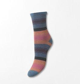 Beck Söndergaard Imma thin stripe socks - Provincial Blue 39/41