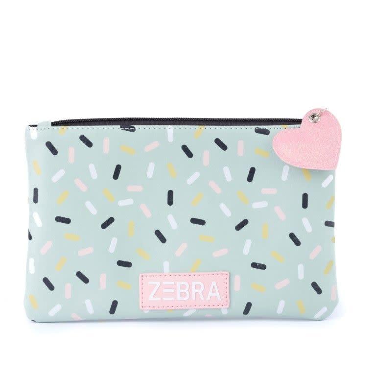Zebra Toilet bag Mint confetti 24x15x5 cm