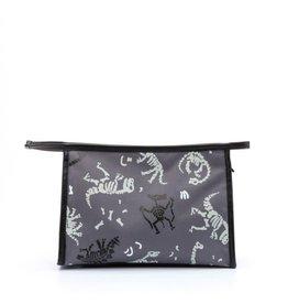Zebra Zebra toilet bag dino black - grey 26x16x8 cm
