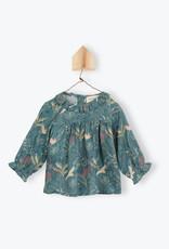 Arsène et les Pipelettes Birds printed baby blouse Alexia