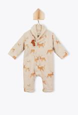 Arsène et les Pipelettes Deer print baby suit