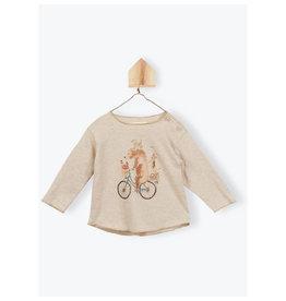 Arsène et les Pipelettes Organic t-shirt animals on bike