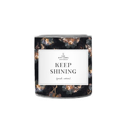 The Gift Label Candle tin 310 gr. 'Keep shining'  fresh cotton