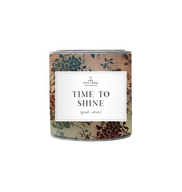 The Gift Label Candle tin 310 gr. 'Time to shine'  fresh cotton