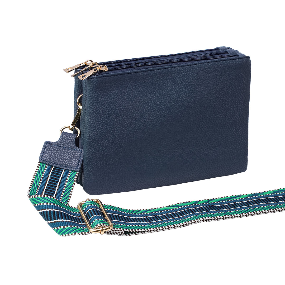 With love Bag 3 compartments - Blue 23cm x 17cm x 5cm