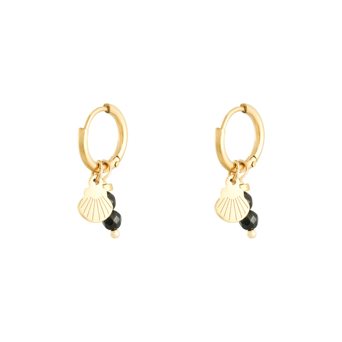 With love Earrings little shell black