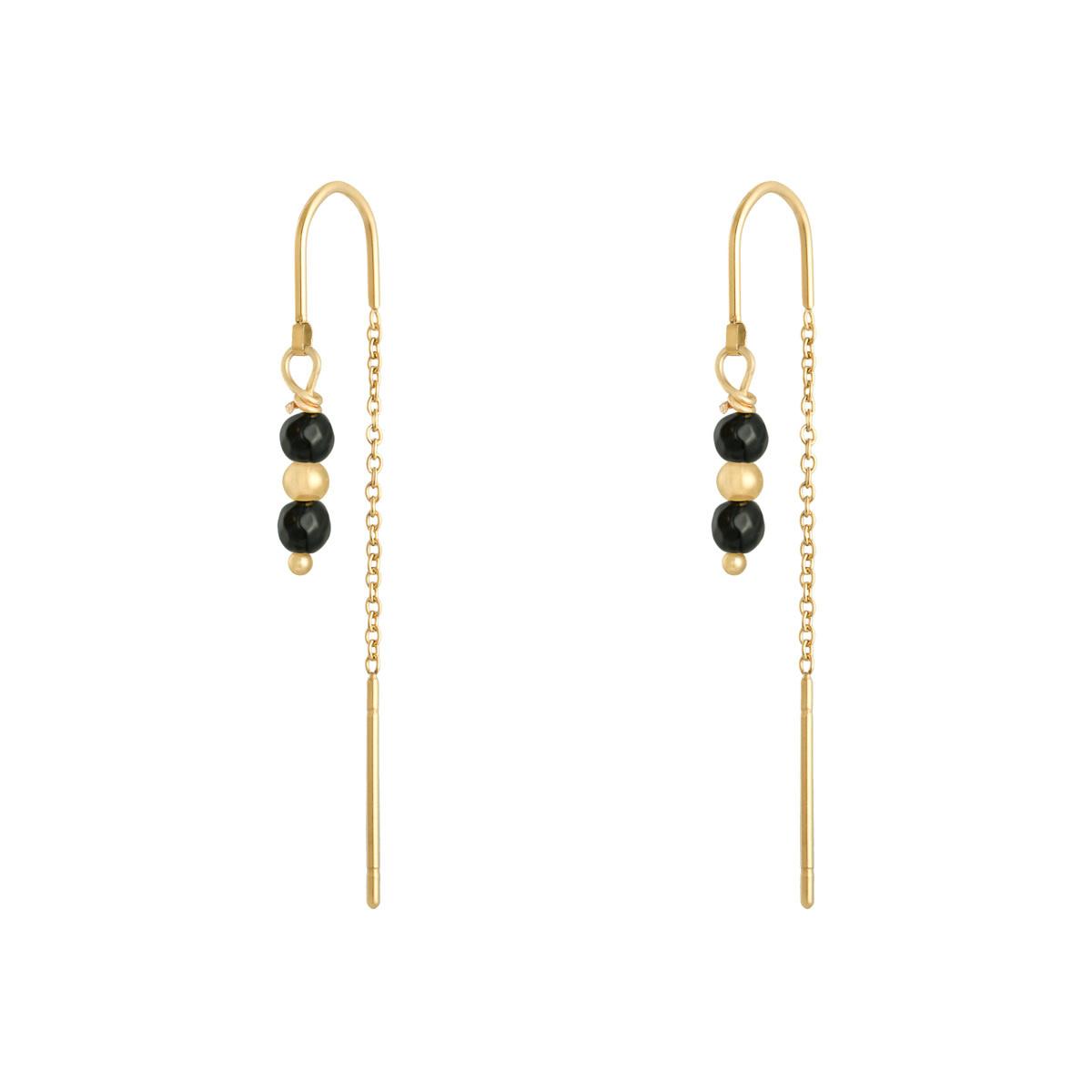 With love Earrings argus - gold black