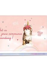 Enfant Terrible Enfant Terrible card  + enveloppe 'Hoera, het is jouw communie vandaag - poesje'