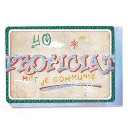 Enfant Terrible Enfant Terrible card  + enveloppe 'Communie graffiti'