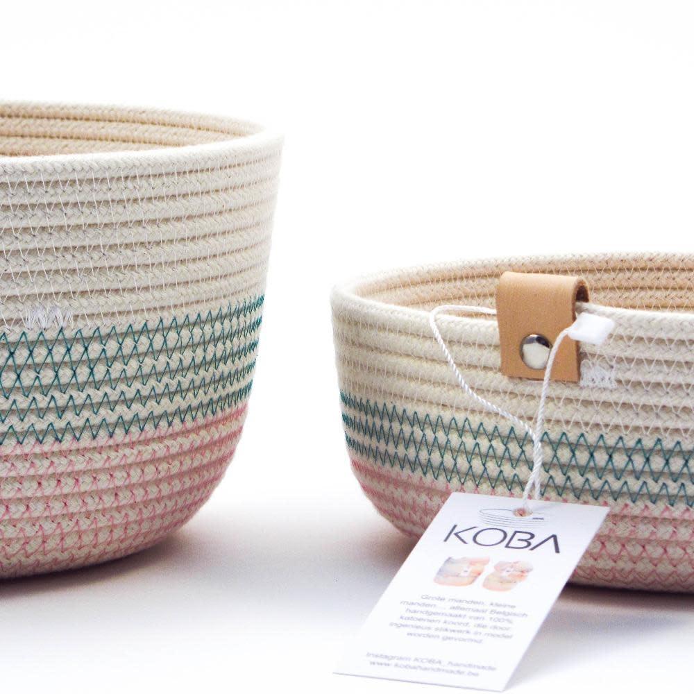 Koba handmade in Belgium Koba high basket M 20 x 13 cm