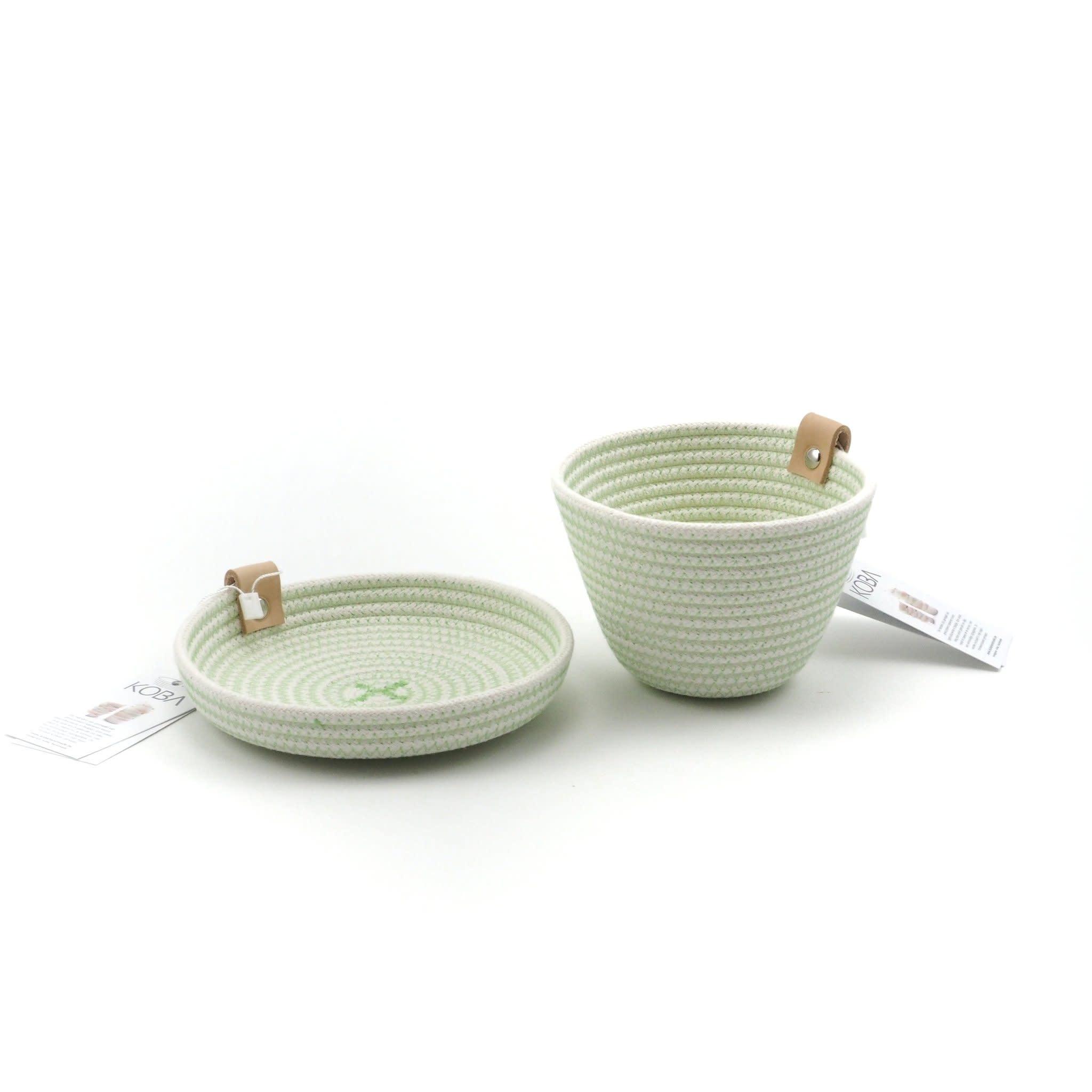 Koba handmade in Belgium Koba mini planter  high - green 10 x 8 cm