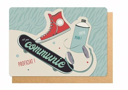 Enfant Terrible Enfant Terrible card  + enveloppe 'Communie joepie yeah!'