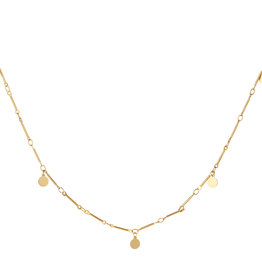 With love Necklace coins gold