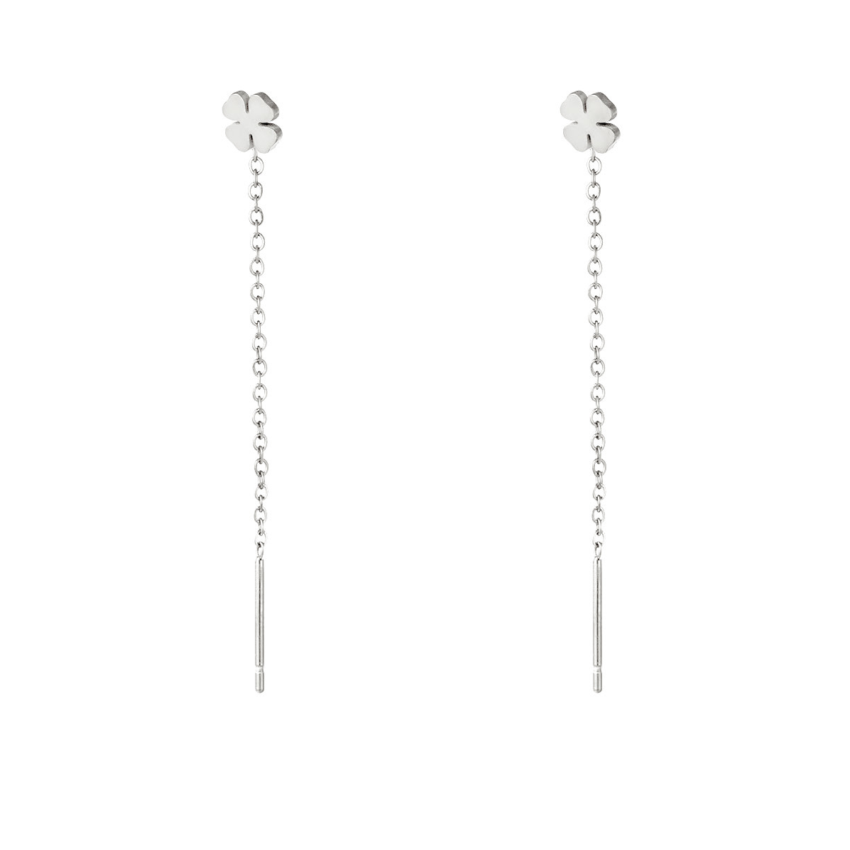 With love Earrings clovet silver