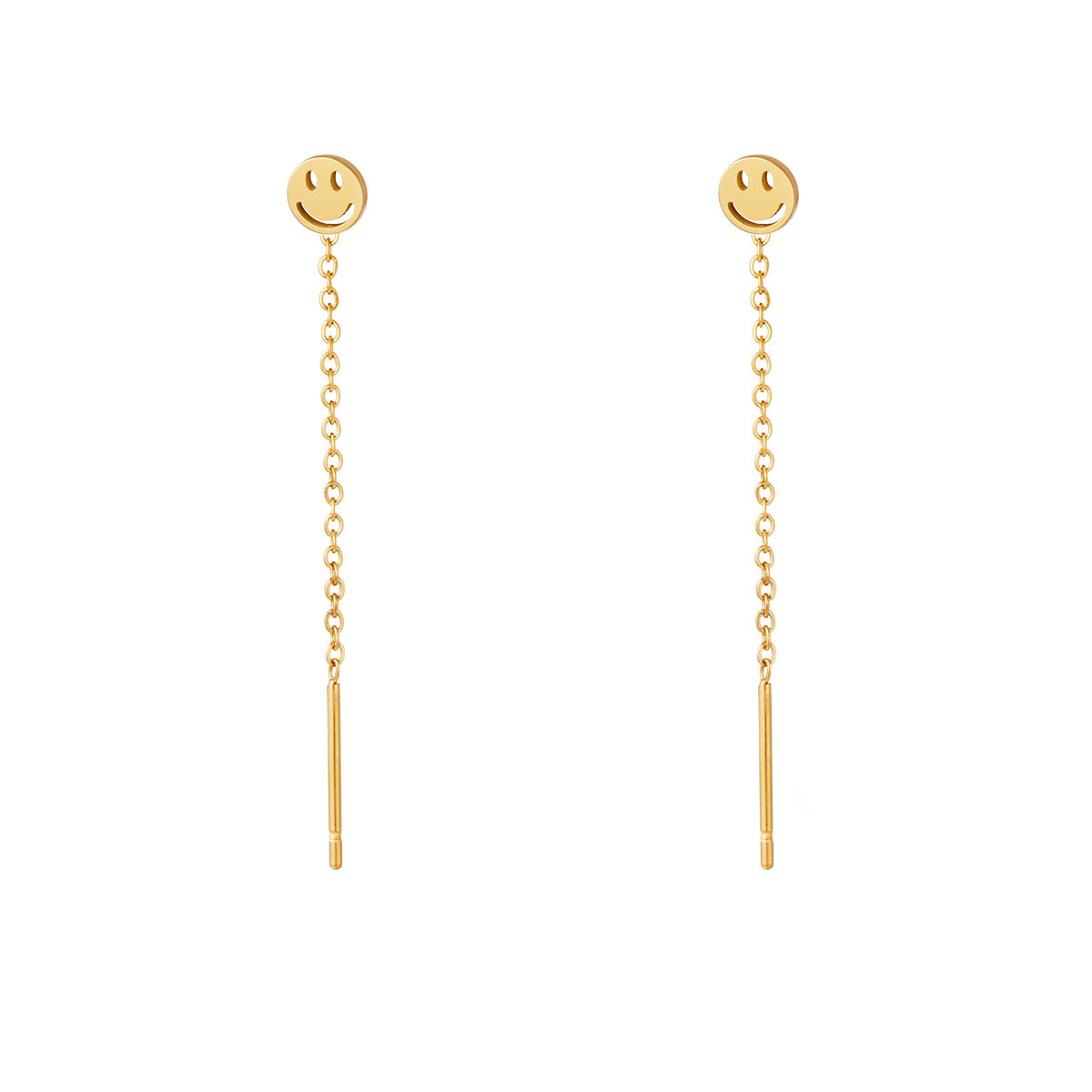 With love Earrings smiley gold