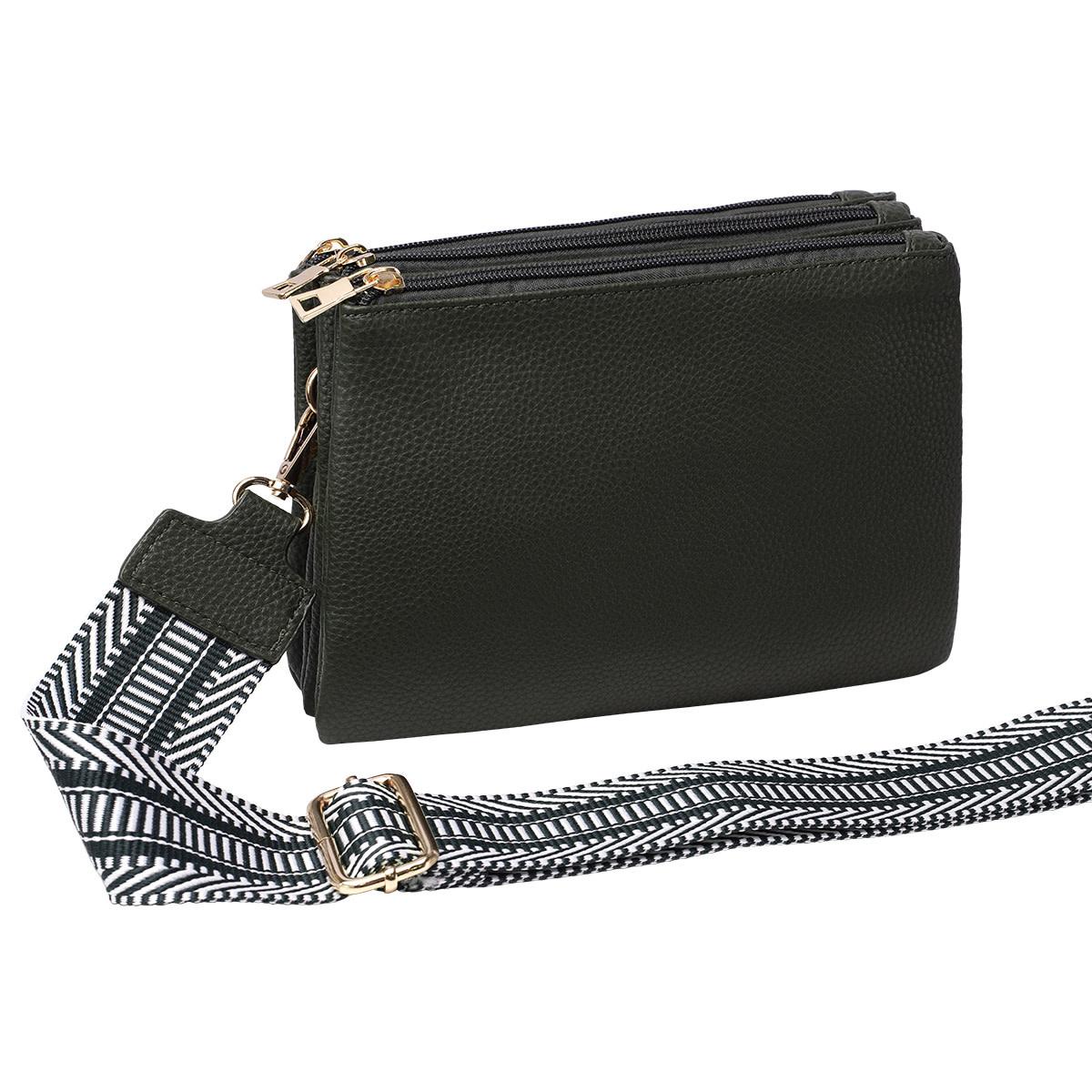 With love Bag 3 compartments - Dark green 23cm x 17cm x 5cm