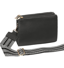 With love Bag 3 compartments - Dark grey 23cm x 17cm x 5cm