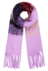 With love Scarf 'keep me warm lilac - navy