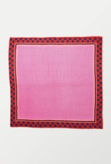 Beck Söndergaard Dyami Siw scarf - Begonia pink - wool & silk - 140 x 140 cm