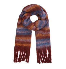 With love Striped scarf cognac