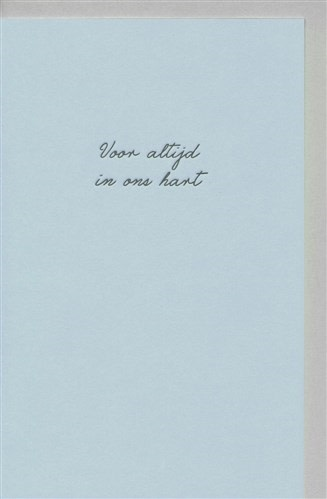 Papette Papette small greeting card 'Voor altijd in ons hart' 8,5 x 13,3 cm