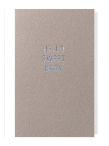Papette Papette small greeting card 'Hello sweet baby' 8,5 x 13,3 cm