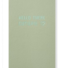 Papette Papette small greeting card 'Hello there cutiepie' 8,5 x 13,3 cm